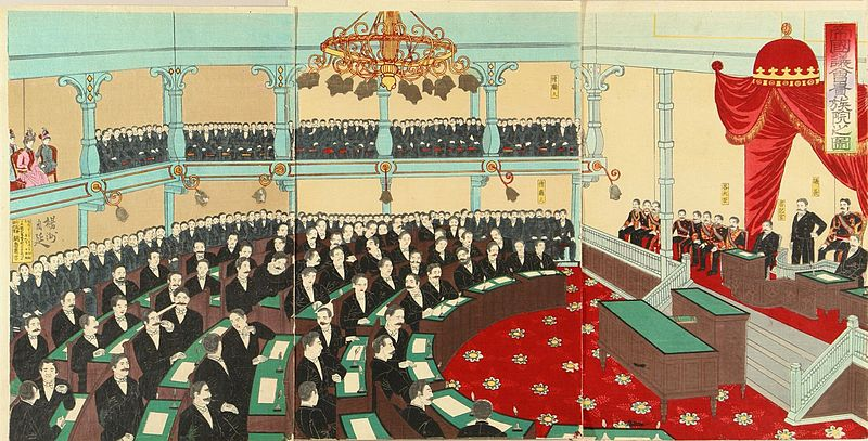 Historical Events today: 1889 – Meiji constitution of Japan adopted; 1st Diet convenes in 1890.