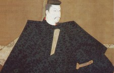 Portrait of Yoritomo, copy of the 1179 original hanging scroll, attributed to Fujiwara Takanobu. Color on silk.
